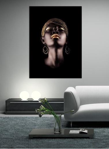 Chic Life Chic Life Afrikalı Kadın Temalı Dekoratif Kanvas Tablo 70*100 cm Renkli